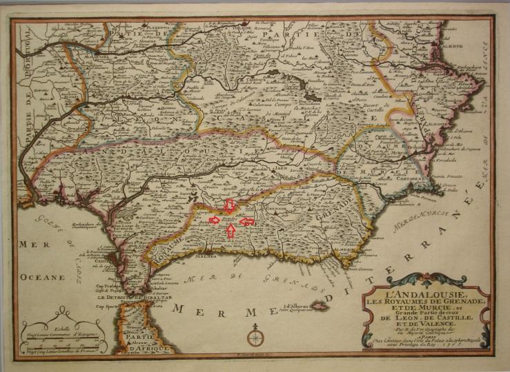 Andalucia y parte Valencia y Castilla Leon (1705 Paris ).jpg