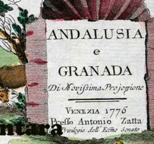 Andaluia y Granada 1776 Antonio Zatta Leyenda.jpg